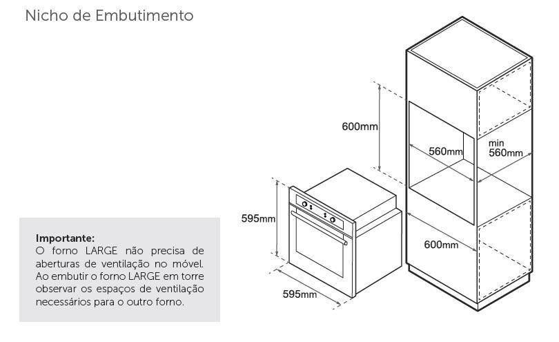 Forno Tecno TO72EXDB2 Turbo Timer 72L Inox