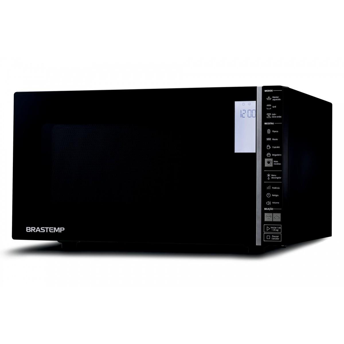 Micro-ondas Brastemp Preto Grill 32 Litros - BMG45AE