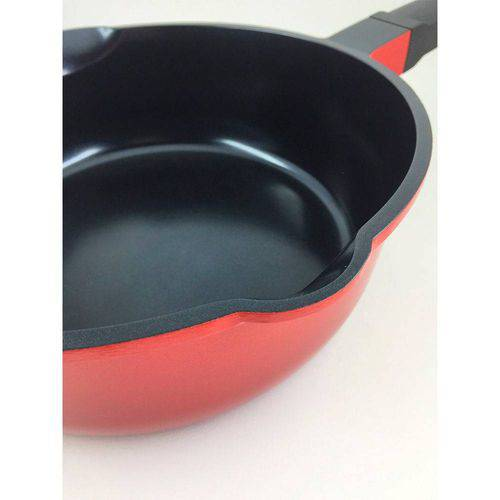 Panela de Cerâmica Multifuncional Roichen RNC-26/DR 26cm 4,1L Vermelha