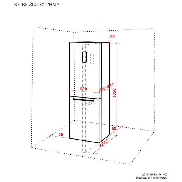 Refrigerador Elettromec Bottom Freezer 317L Inox 220V