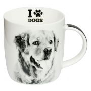 CANECA GOLDEN RETRIEVER - I LOVE DOGS