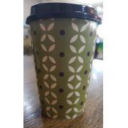 Copo verde de plastico 320 ml