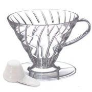 Suporte p/ filtro de café Hario v60 2 acrílico transparente V60 2
