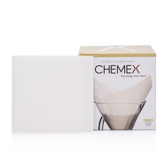 Filtro Quadrado Pré Dobrado para Chemex com 100 unidades