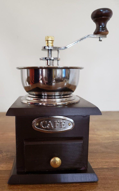 Moedor de café copo de madeira