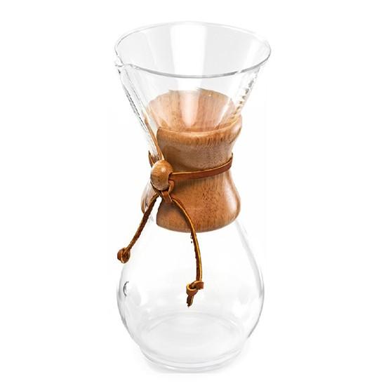 Passador de Café Chemex com Alça de Madeira 3 Xícaras