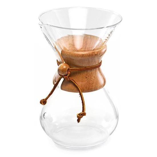 Passador de Café Chemex com Alça de Madeira 6 Xícaras