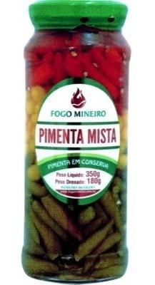 Pimenta em Conserva Mista 350g Fogo Mineiro