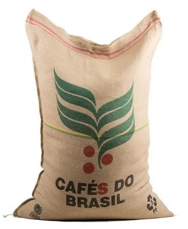 Sacaria de juta 60kg Cafés do Brasil