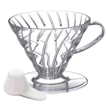 Suporte p/ filtro de café Hario v60 1 acrílico Transparete