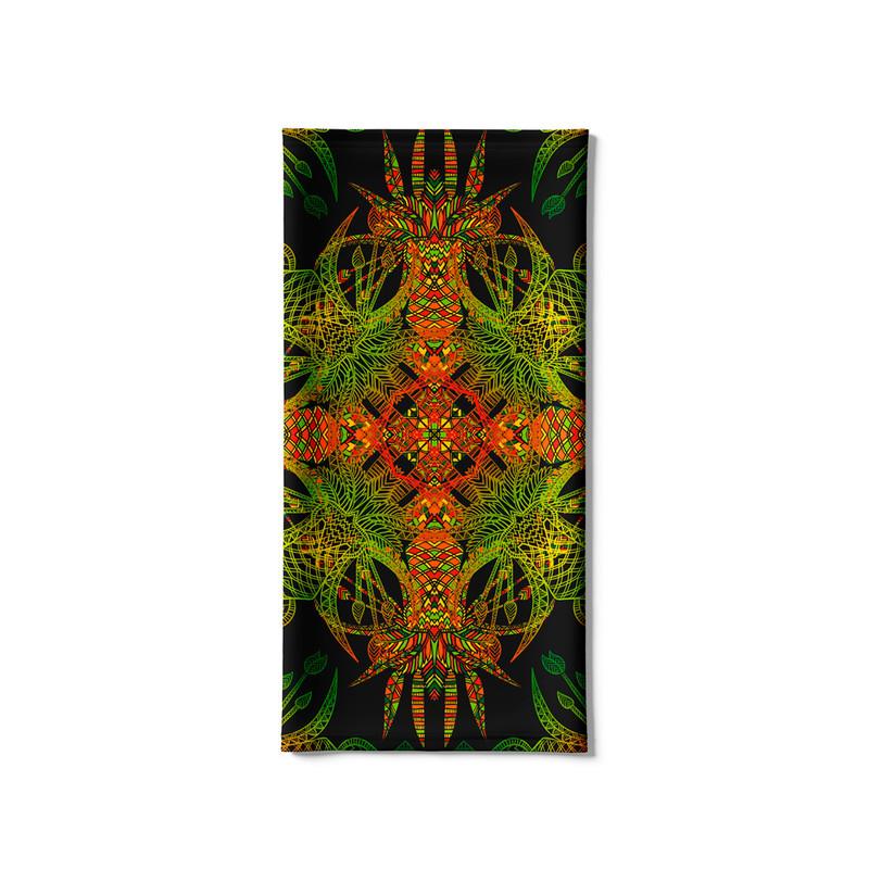 Bandana Tubular Abstrato Verde