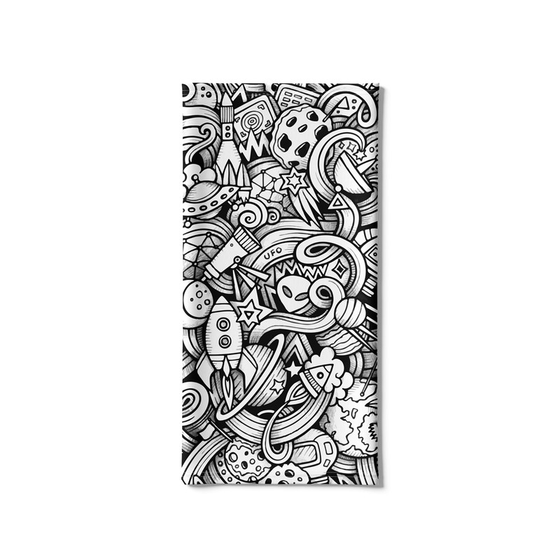 Bandana Tubular Alien Espaço Doodle