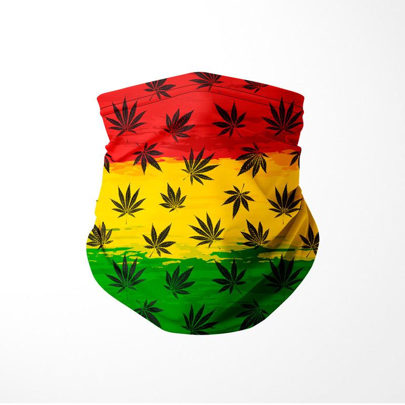 Bandana Tubular Cannabis Arte Reggae