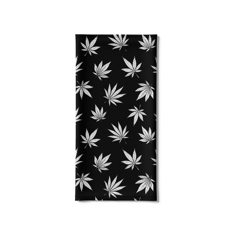 Bandana Tubular Cannabis Maconha Preta