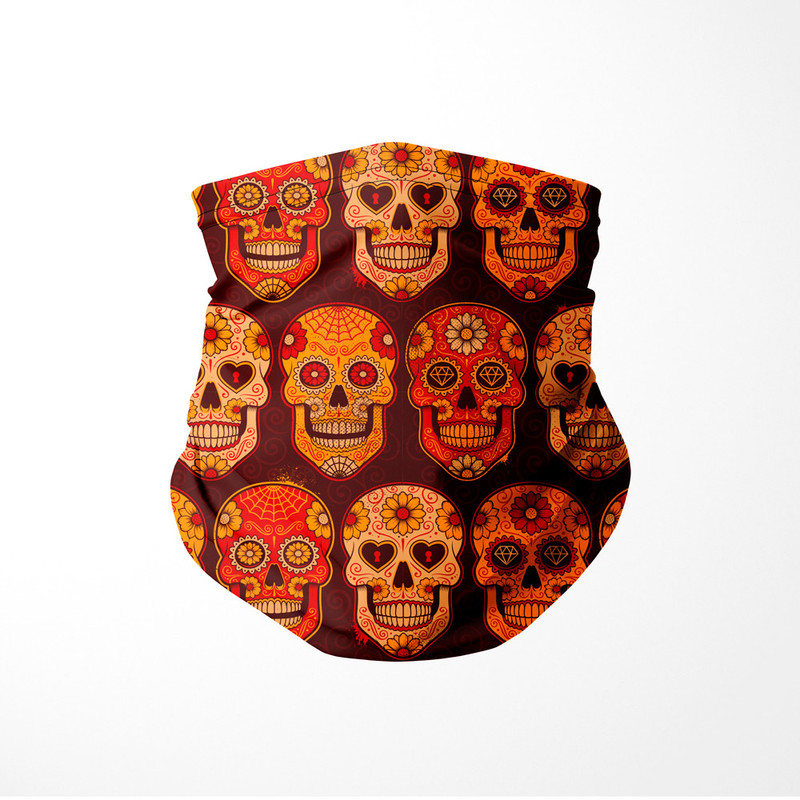 Bandana Tubular Caveira Mexicana