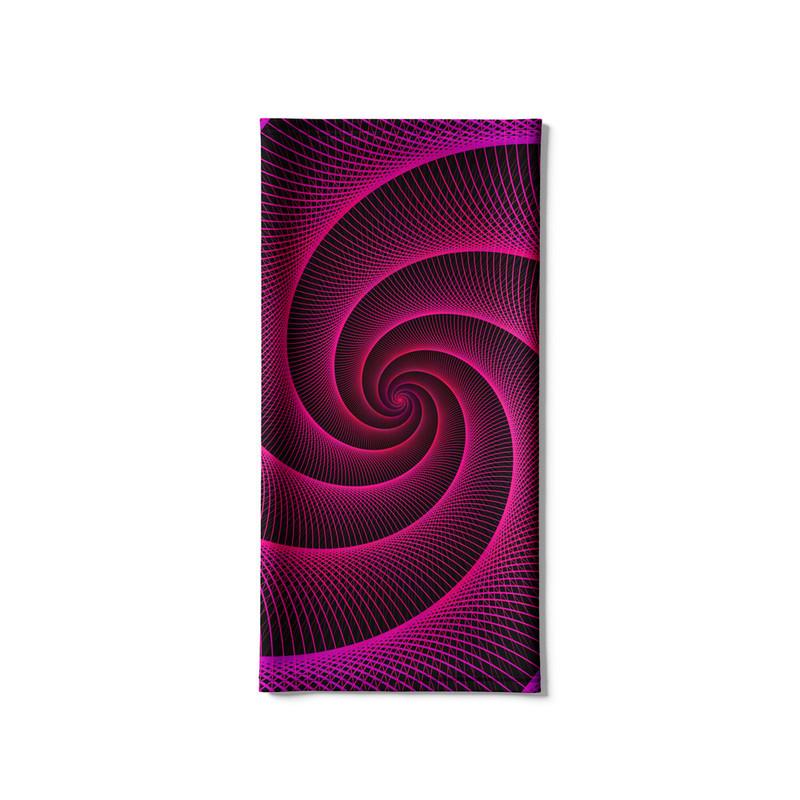 Bandana Tubular Espiral Laser Rosa