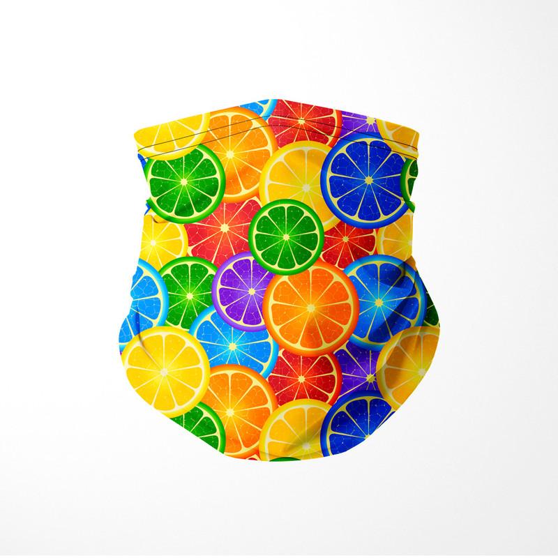 Bandana Tubular Frutas Cítricas