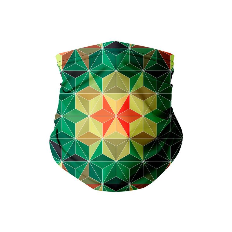 Bandana Tubular Geometrica Verde