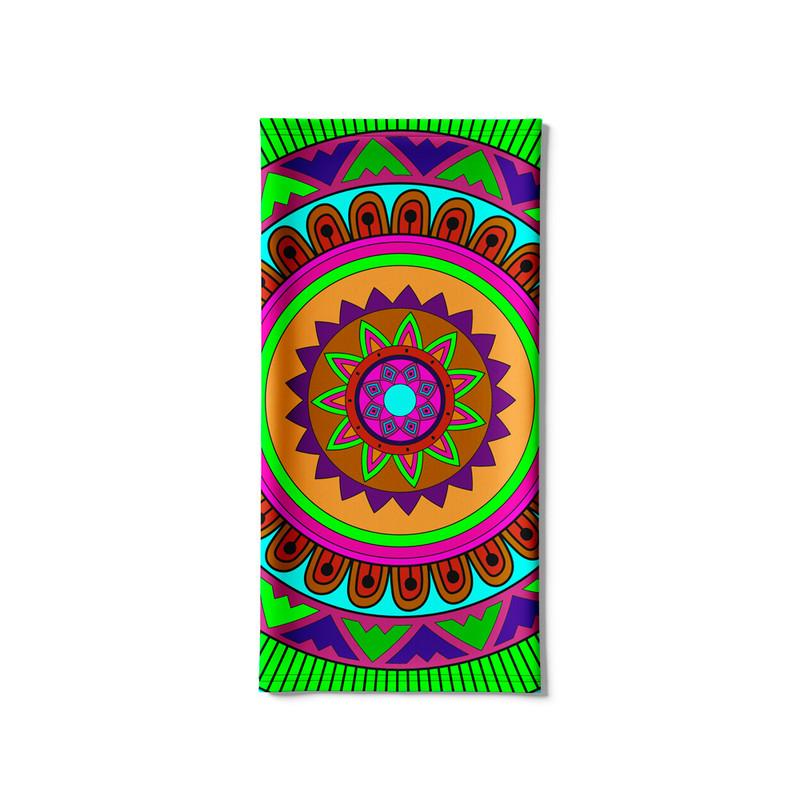 Bandana Tubular Mandala Colorida
