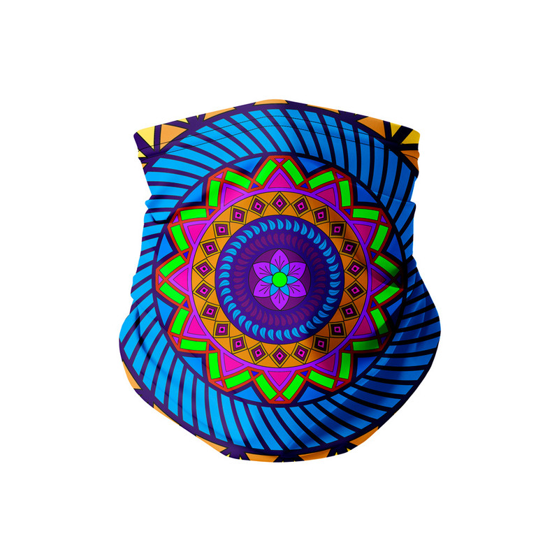 Bandana Tubular Mandala Folha Roxa