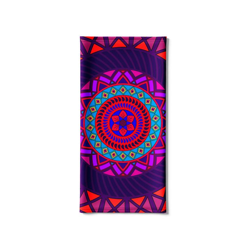 Bandana Tubular Mandala Folha Vermelha