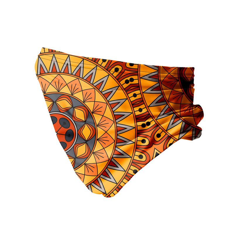 Bandana Tubular Mandala Nativa Amarela