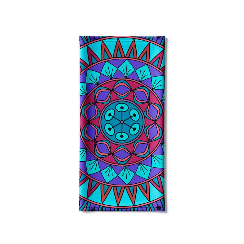 Bandana Tubular Mandala Nativa Azul