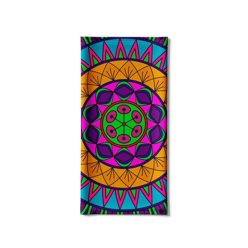 Bandana Tubular Mandala Nativa Colorida