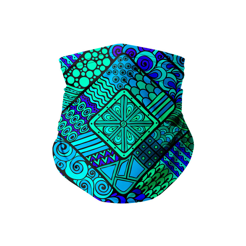 Bandana Tubular Nativa Azul