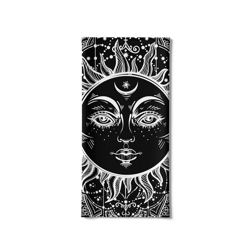 Bandana Tubular Sol Negro Ethnic