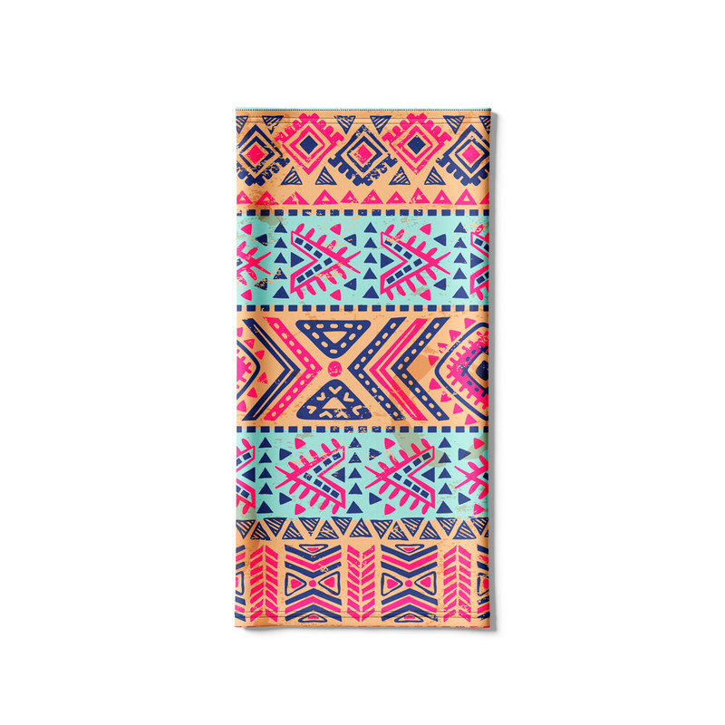 Bandana Tubular Tribal Nativa Rosa