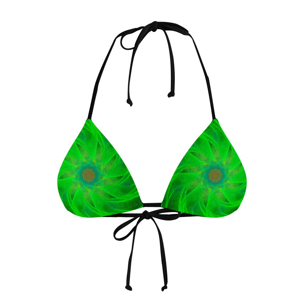 Biquíni Cortininha Psicodélico Green Spiral
