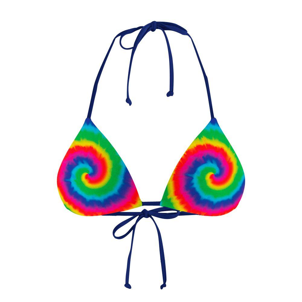 Biquíni Cortininha Psicodélico Tie Dye