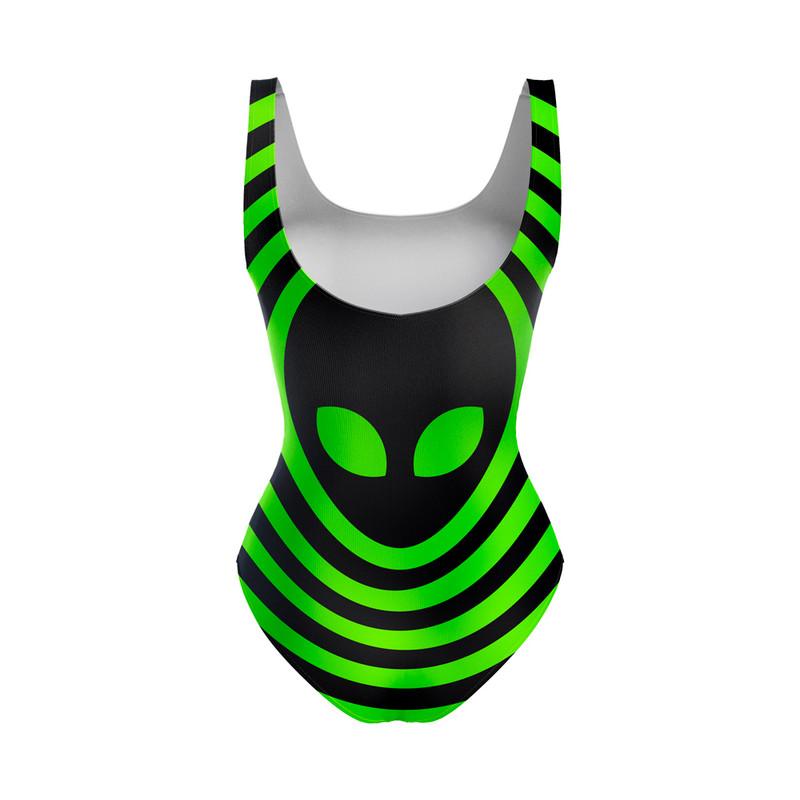 Body Maiô Alien Psicodélico