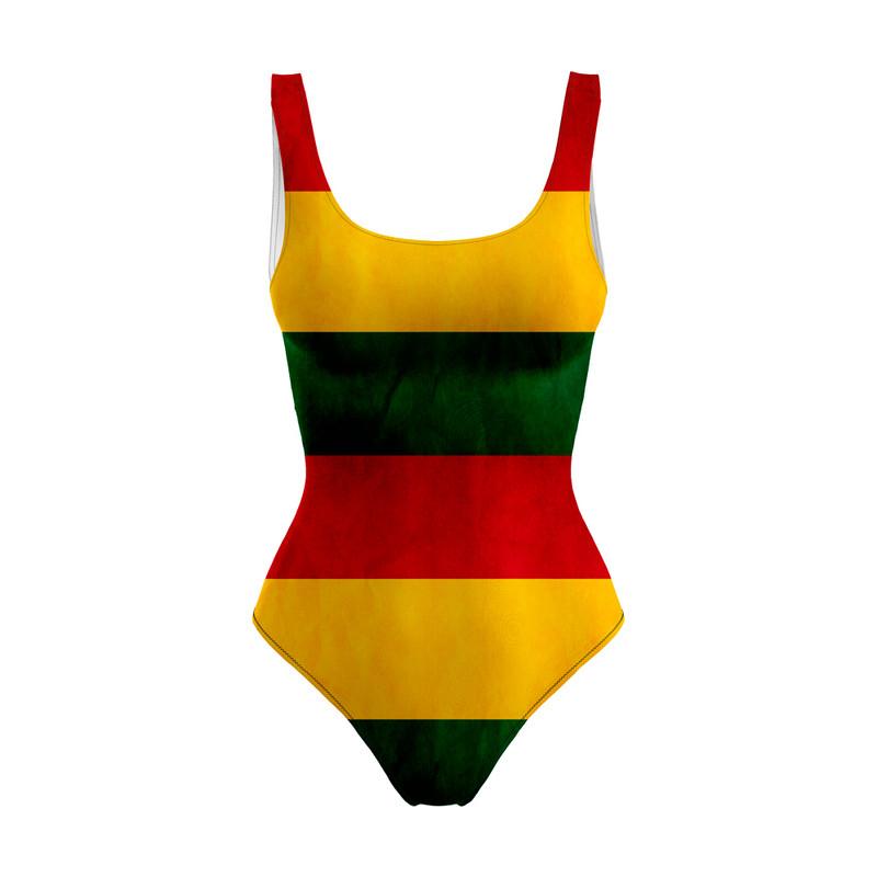 Body Maiô Bandeira Reggae