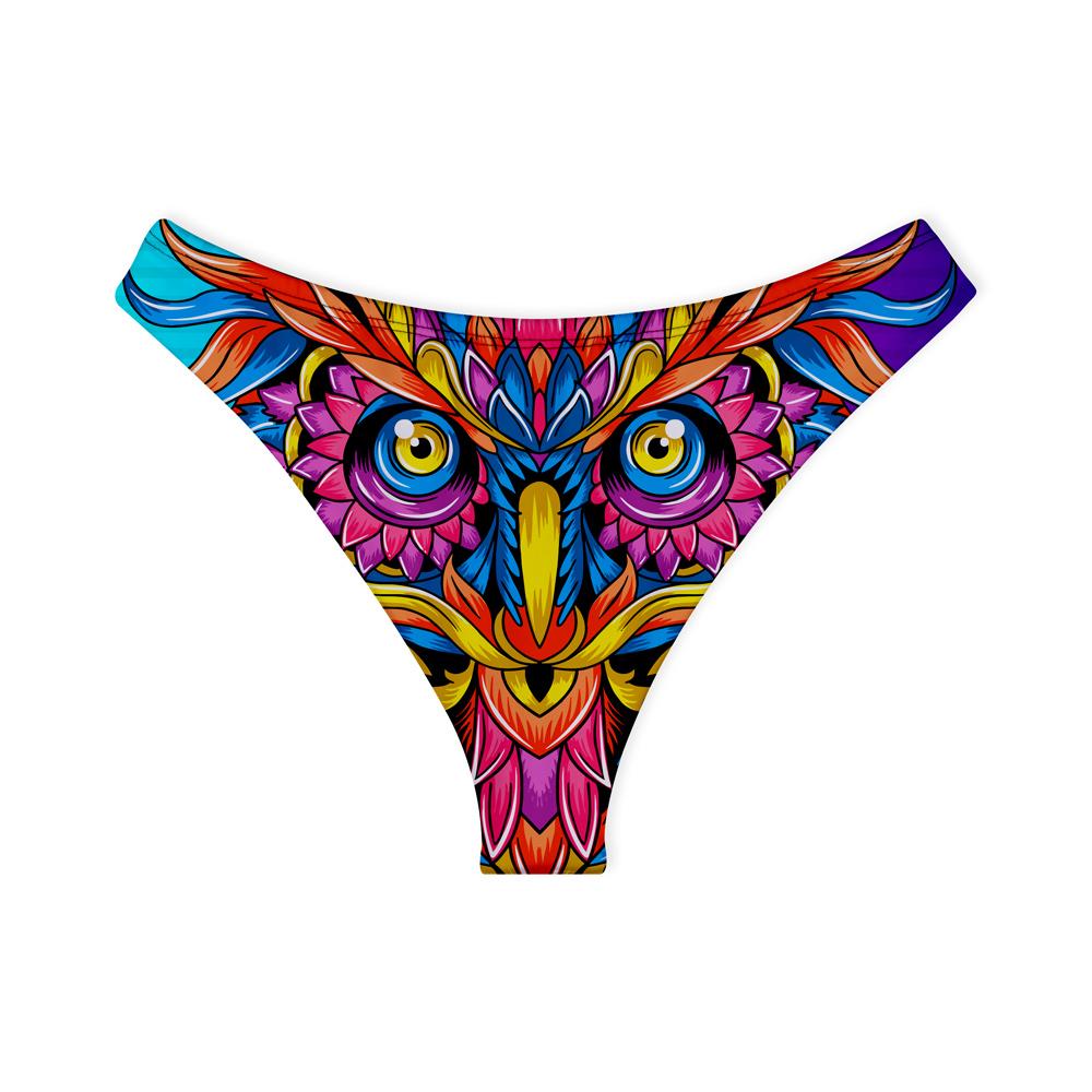 Calcinha de Biquíni Asa Delta Psicodélico Owl Colors