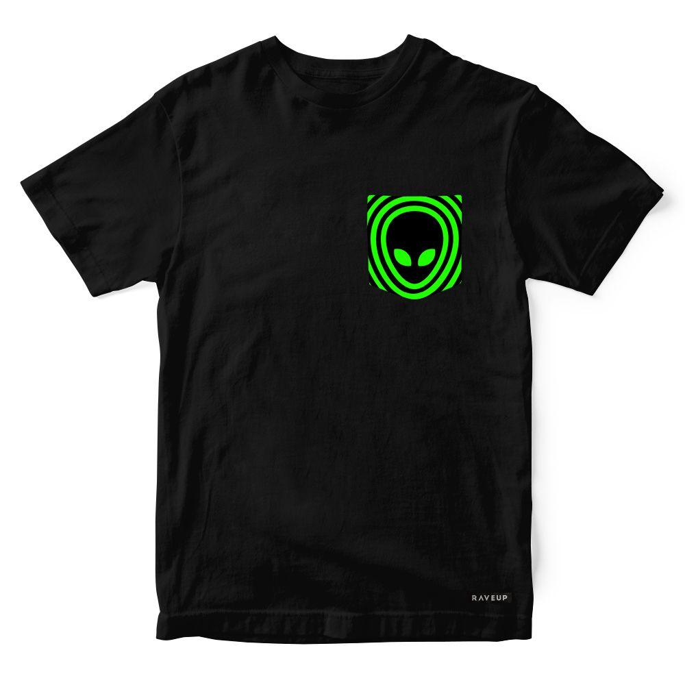 Camiseta Bolso Alien Psicodélico