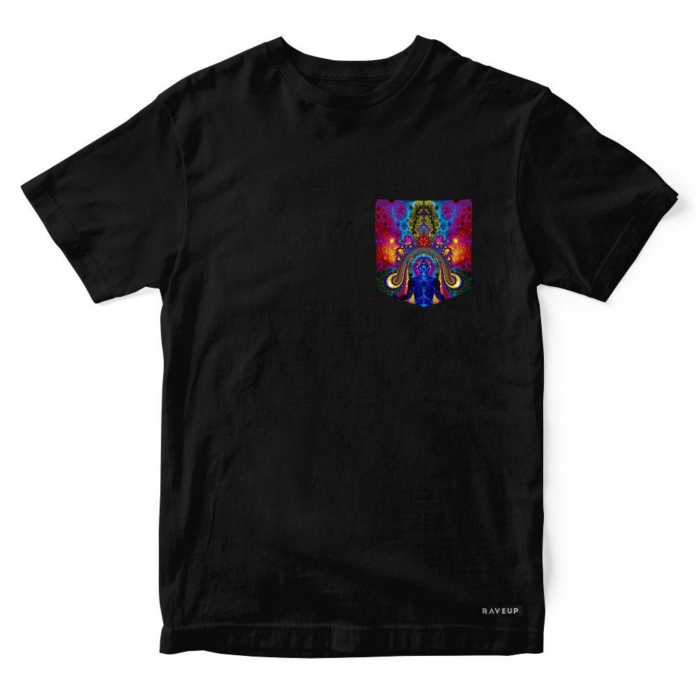Camiseta Bolso Psicodélico Chakras