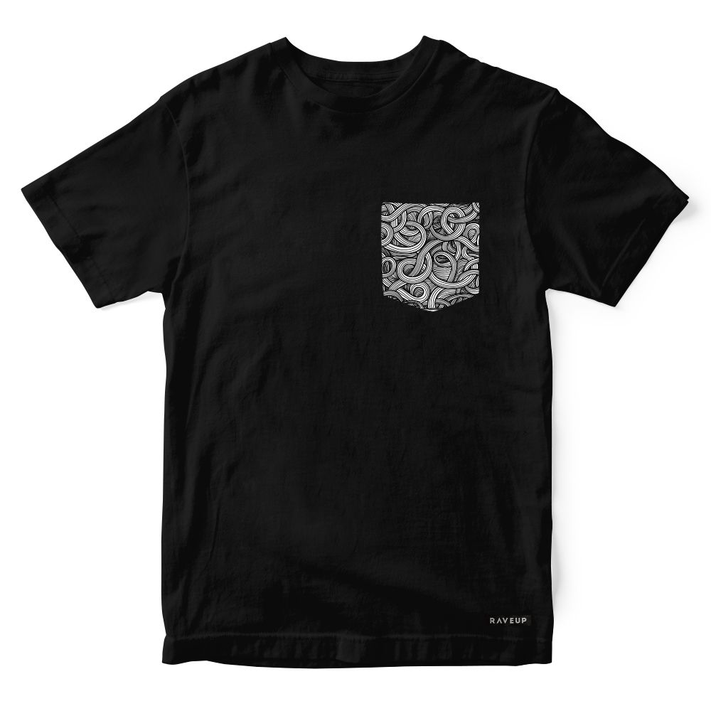 Camiseta Bolso Psicodélico Black Windings