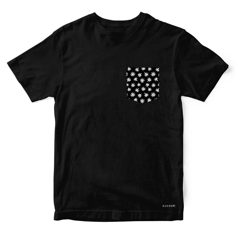 Camiseta Bolso Cannabis Black