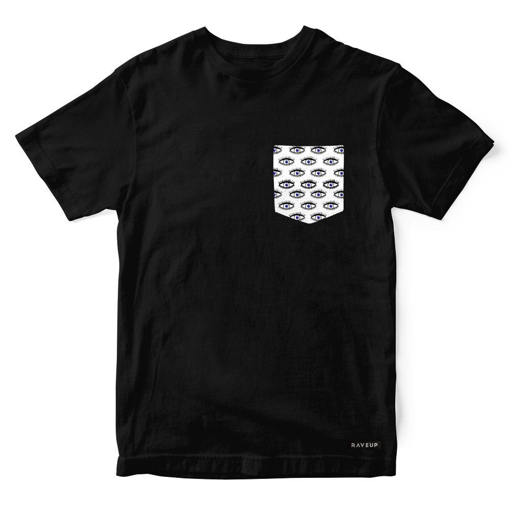 Camiseta Bolso Psicodélico Dark Eyes