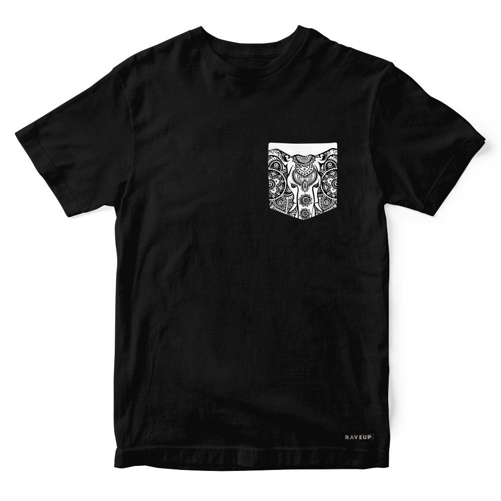 Camiseta Bolso Psicodélico Ethnic Elephant