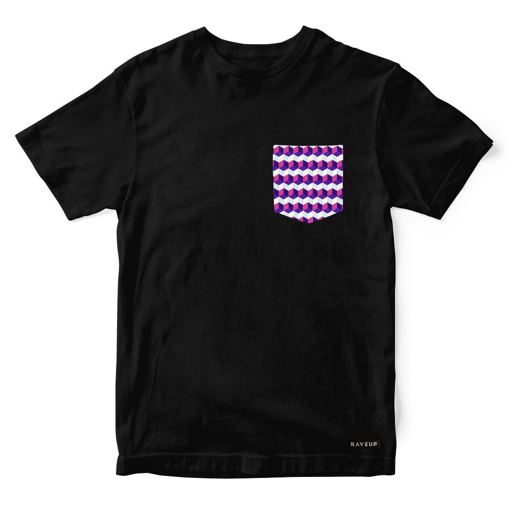 Camiseta Bolso Geometric Squares
