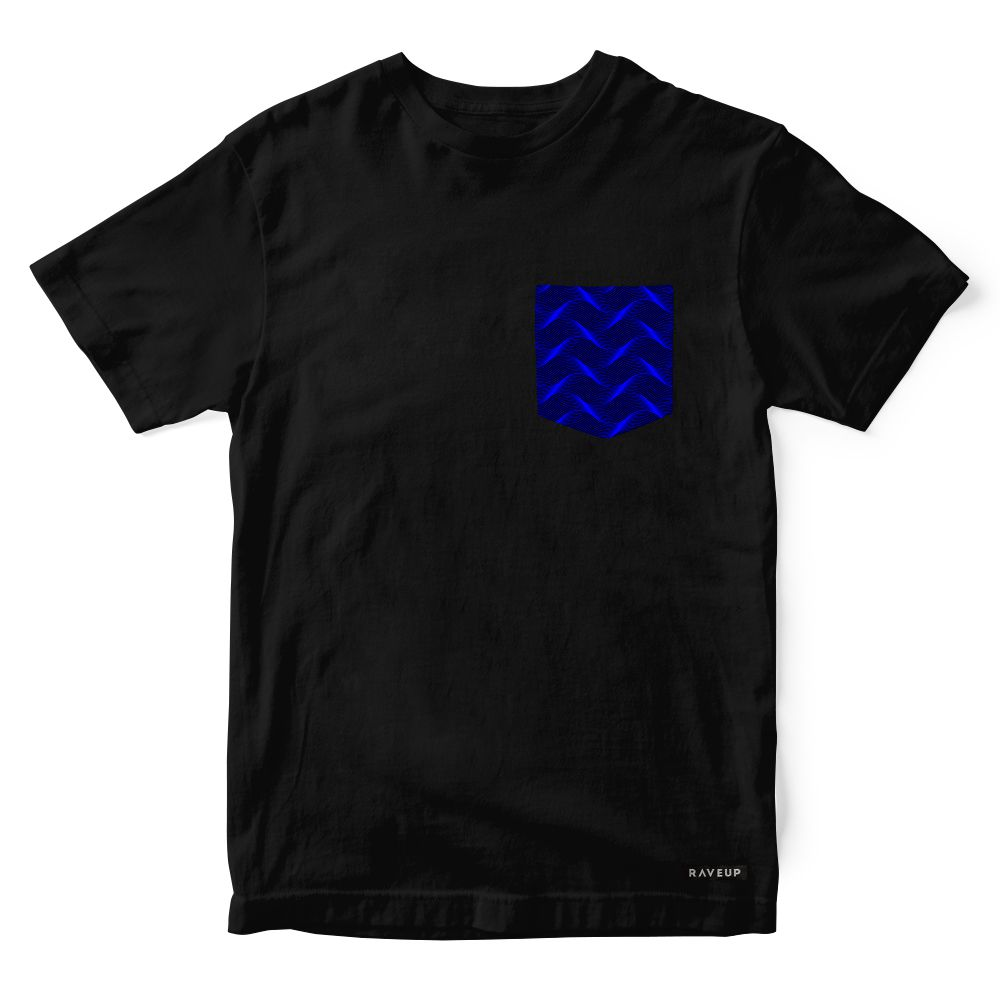 Camiseta Bolso Psicodélico Insane Curves Blue