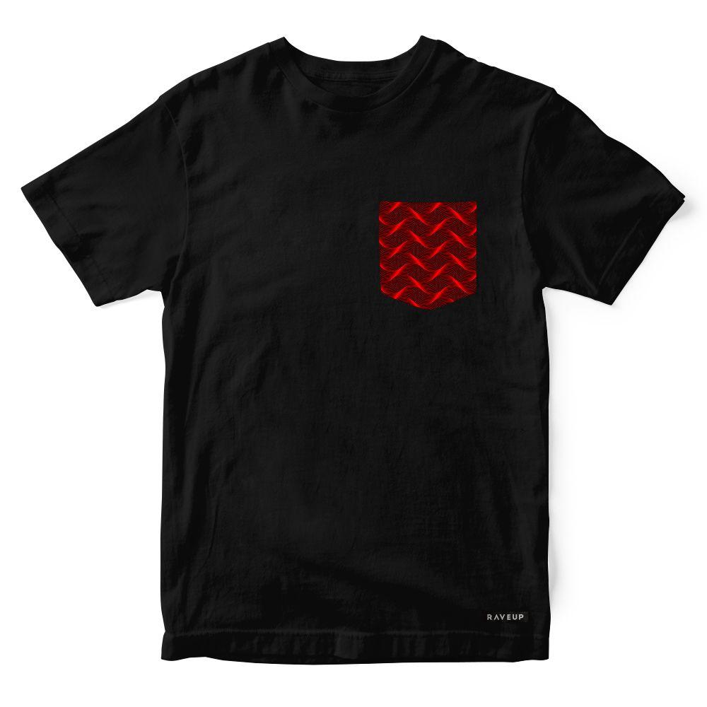 Camiseta Bolso Psicodélico Insane Curves Red