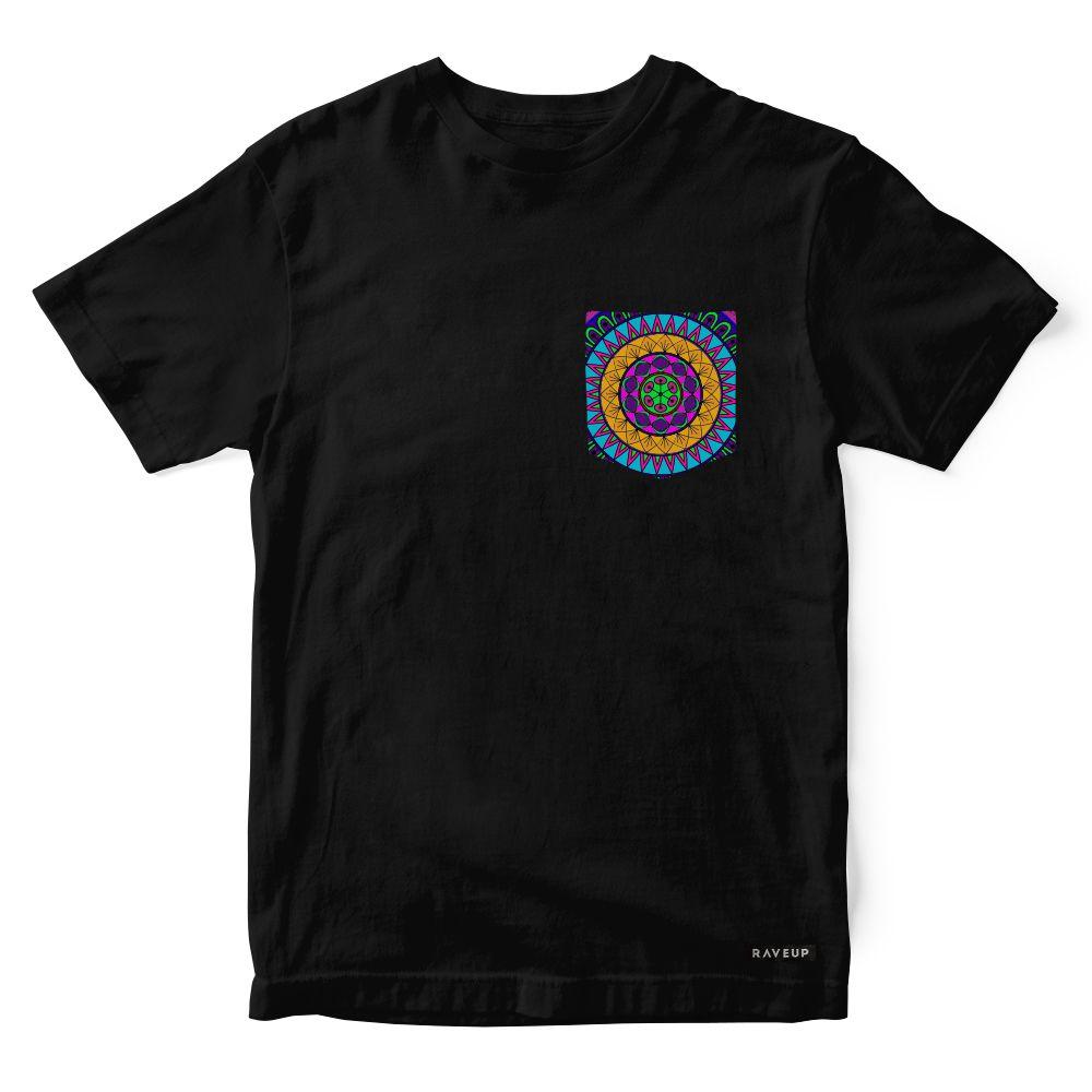 Camiseta Bolso Psicodélico Mandala Colors