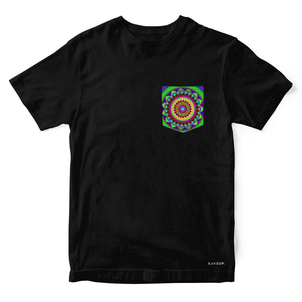 Camiseta Bolso Psicodélico Mandala Green
