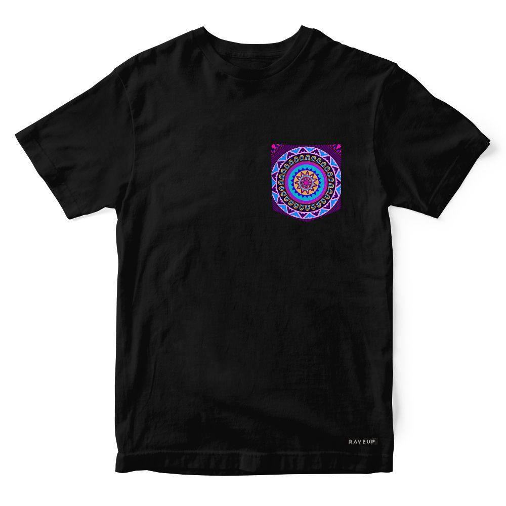 Camiseta Bolso Psicodélico Mandala Purple