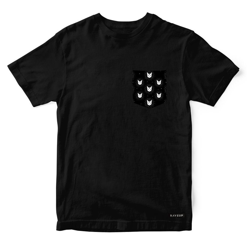 Camiseta Bolso Psicodélico Mystic Cats