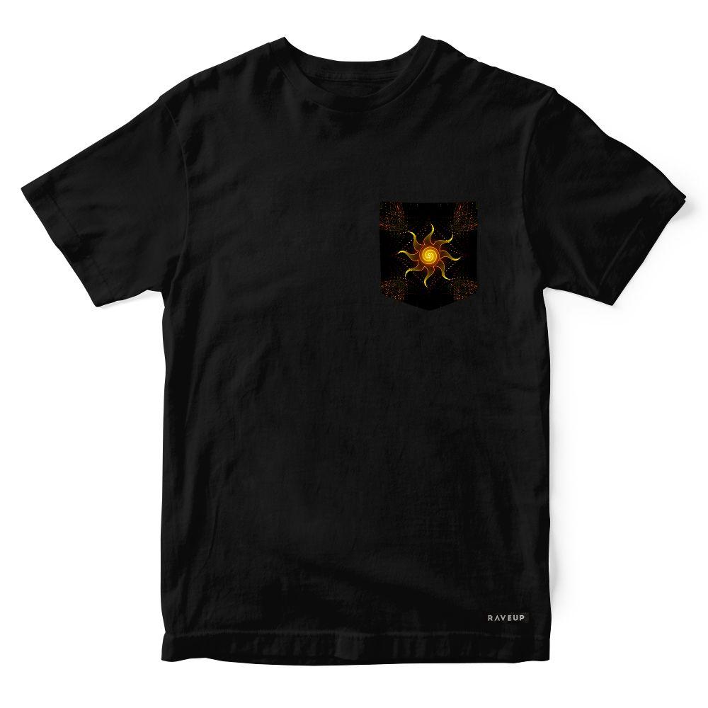 Camiseta Bolso Psicodélico Mystical Sun